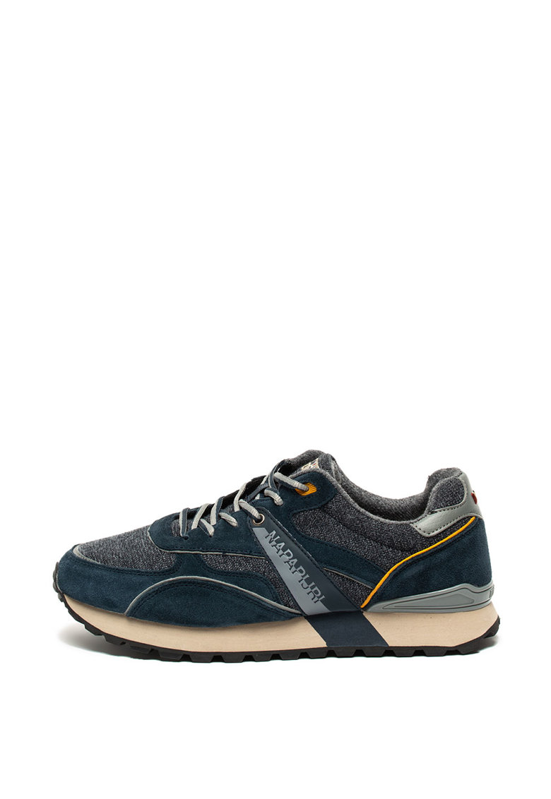 Pantofi sport cu garnituri de piele intoarsa