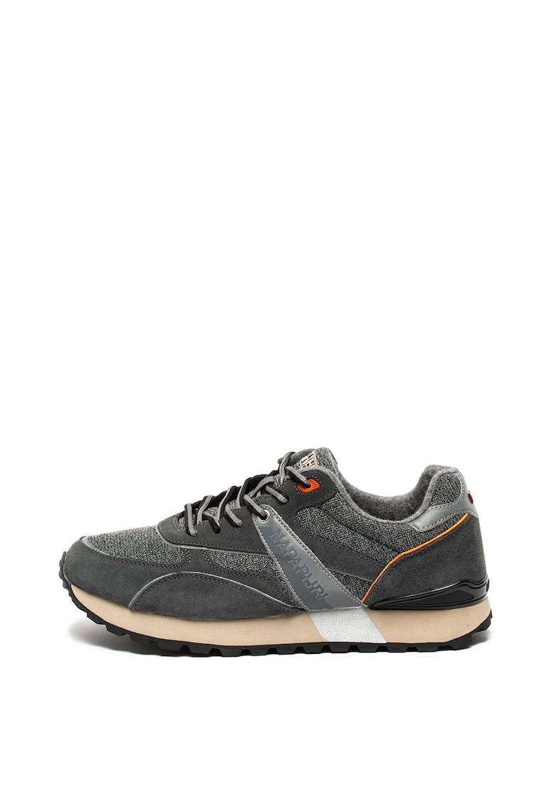 Pantofi sport cu garnituri de piele intoarsa Frise