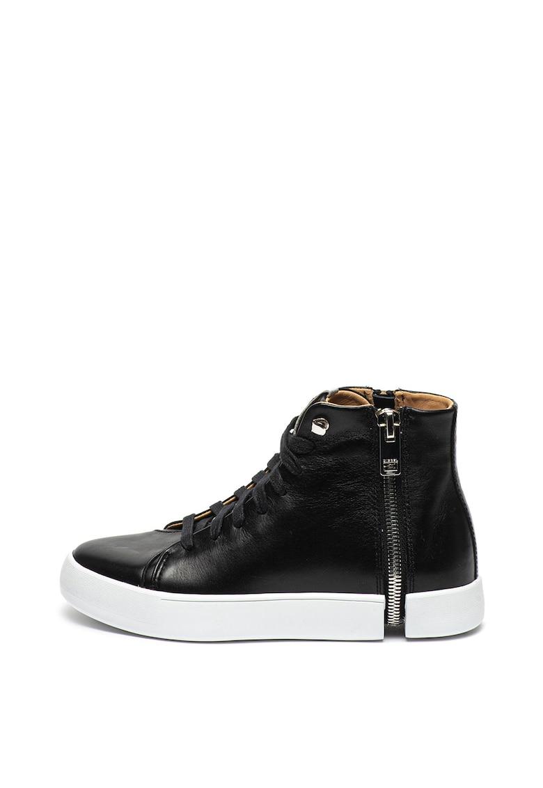 Pantofi sport inalti de piele cu detaliu cu fermoar Nentish