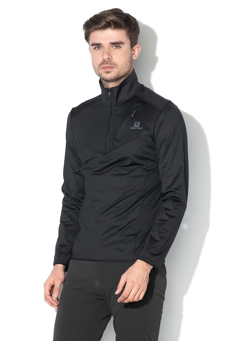 Bluza sport cu fermoar scurt - pentru drumetii Discovery