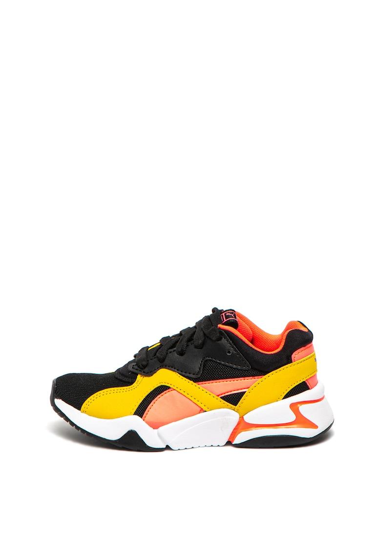 Pantofi sport cu garnituri de piele ecologica Nova Funky