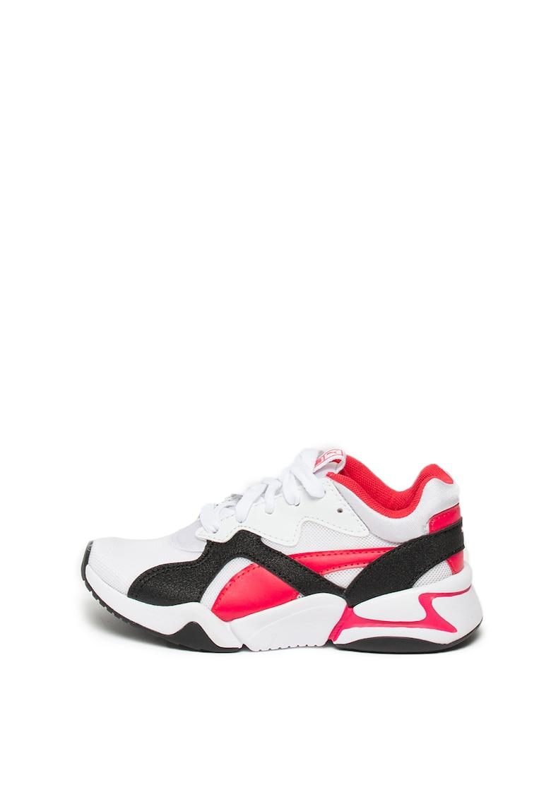Pantofi sport cu insertii de piele ecologica Nova Funky