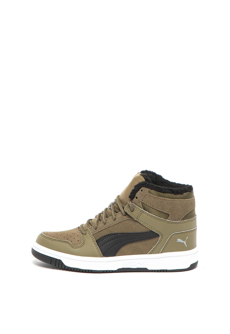 Pantofi sport de piele intoarsa - cu garnituri de piele ecologica Rebound Layup Fur