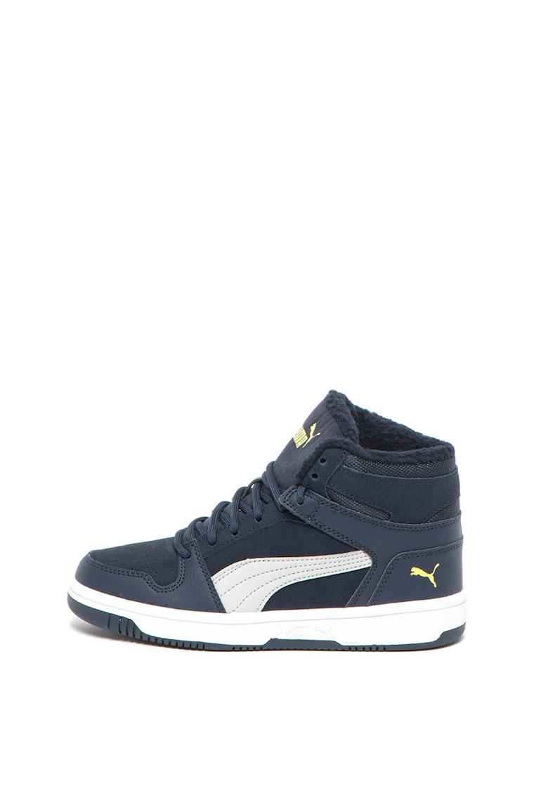 Pantofi sport mid-high cu garnituri de piele intoarsa Rebound Layup