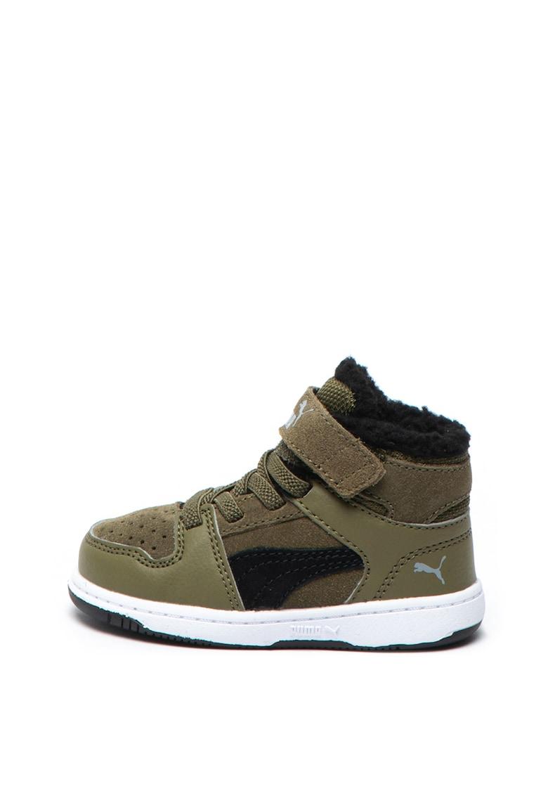 Puma Pantofi sport mid-high cu amortizare si garnituri de piele intoarsa Rebound LayUp