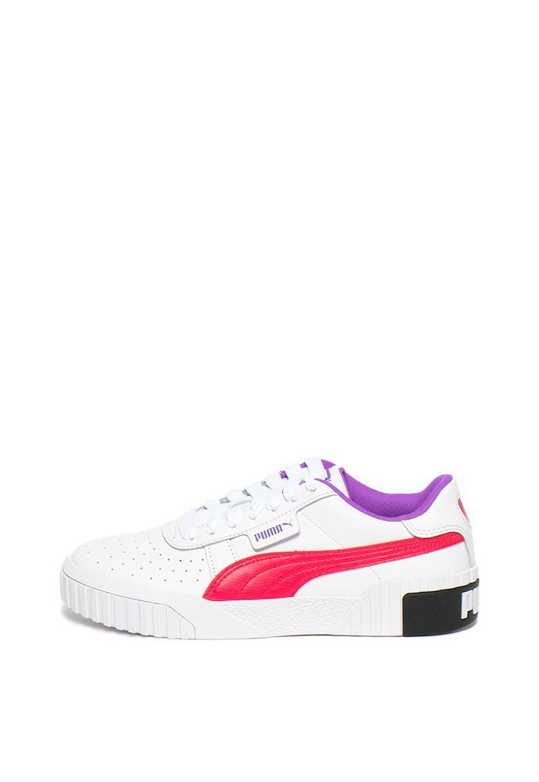 Pantofi sport de piele cu detalii contrastante Cali Chase fashiondays.ro