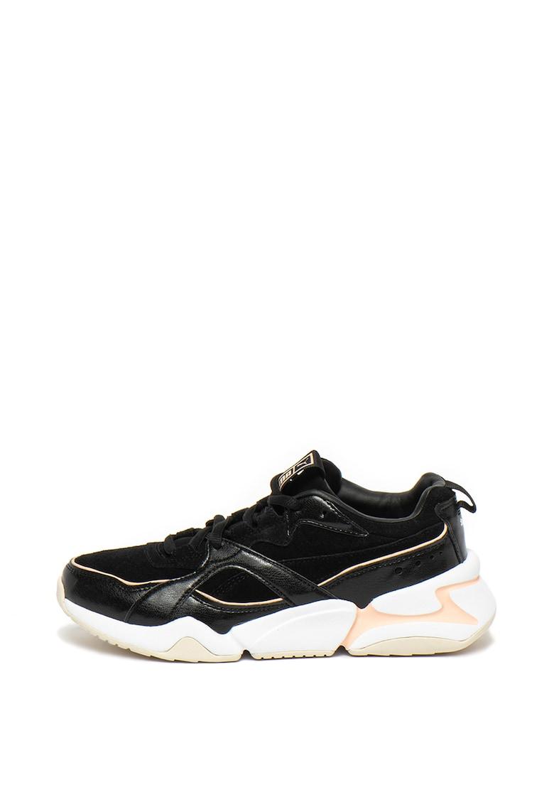 Pantofi sport de piele intoarsa si piele nabuc Nova 2
