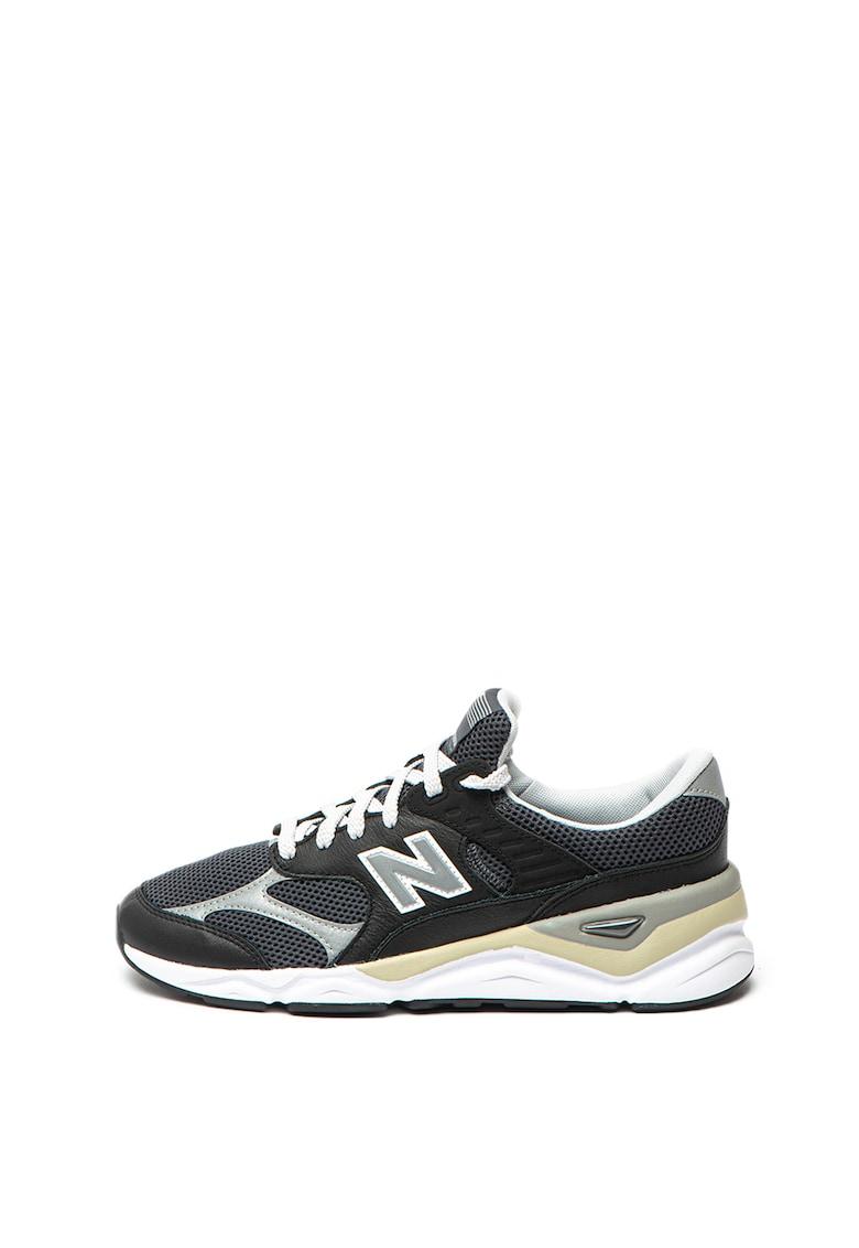 Pantofi sport cu insertii de piele X-90