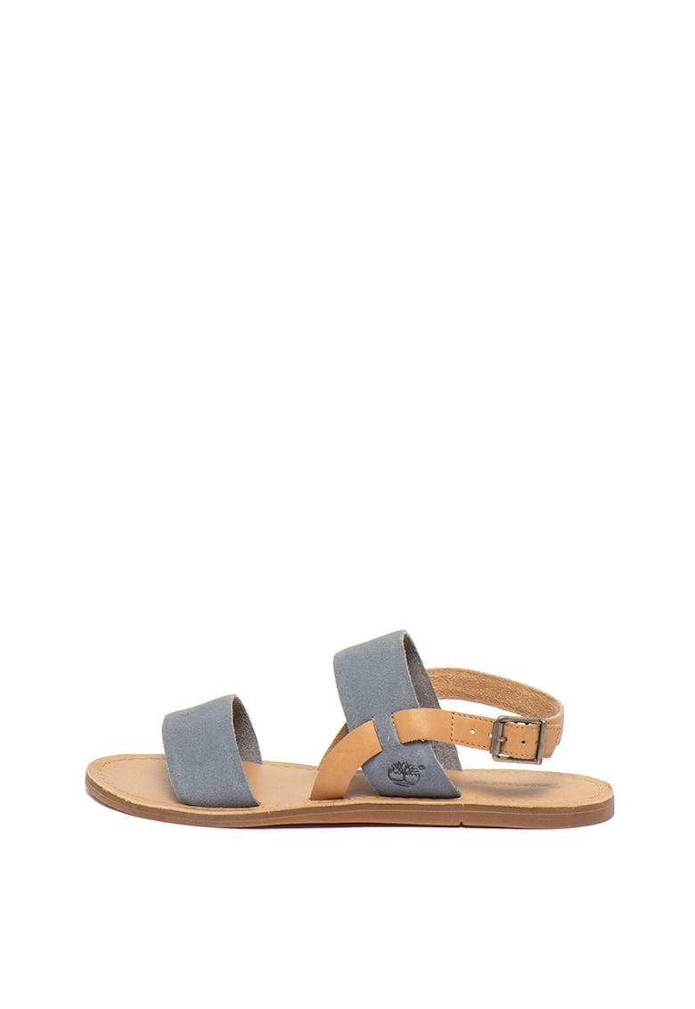 Sandale slingback cu barete de piele intoarsa Carolsta Timberland