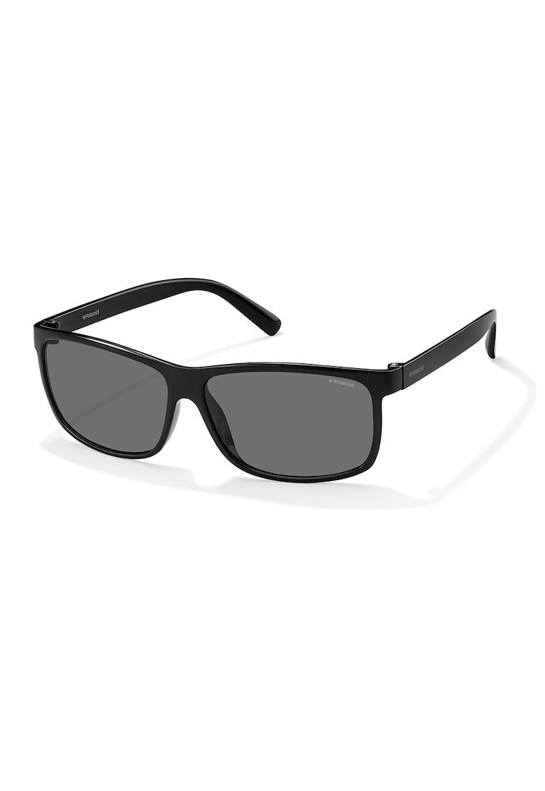 Ochelari de soare dreptunghiulari unisex cu lentile polarizate poza fashiondays