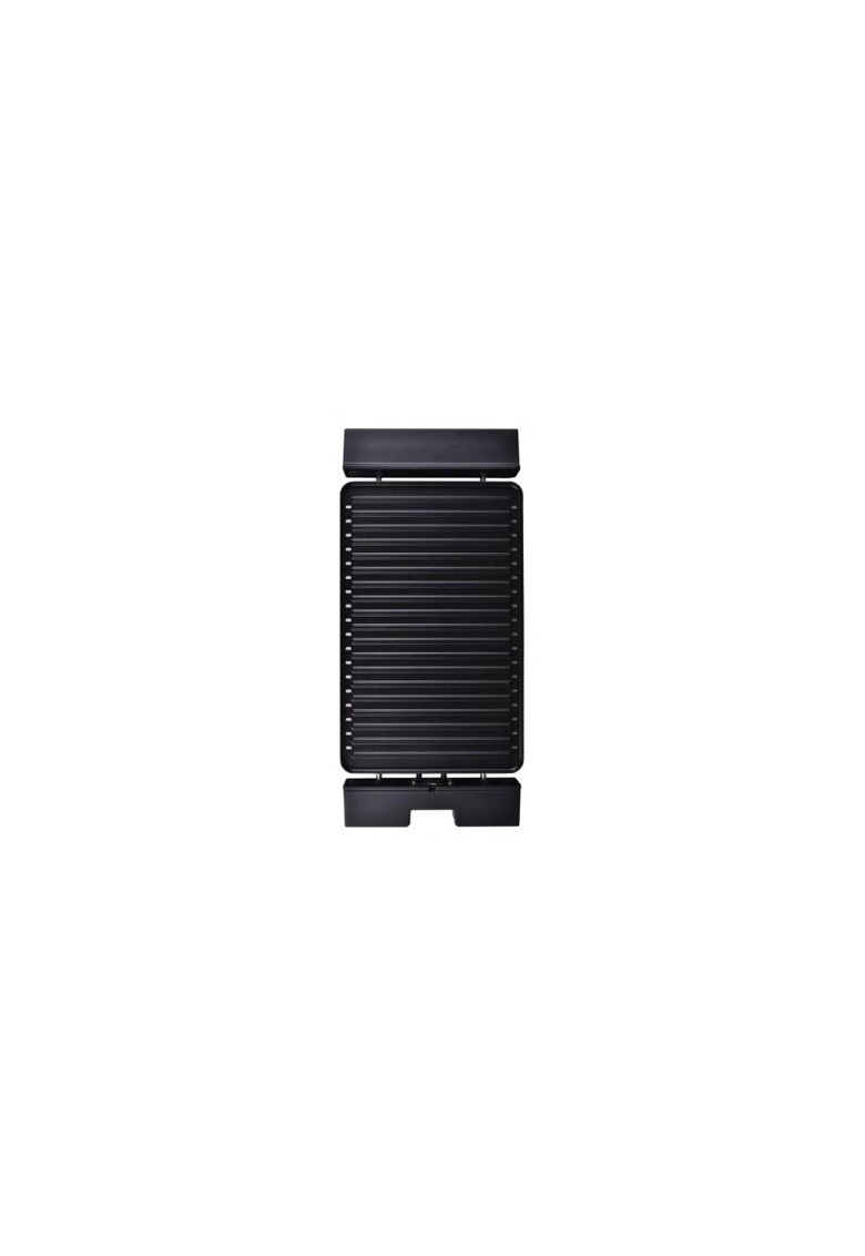 Gratar electric - 1800 W - placa detasabila cu invelis anti-adeziv - placa 41 x 26 cm - Negru/Inox poza fashiondays