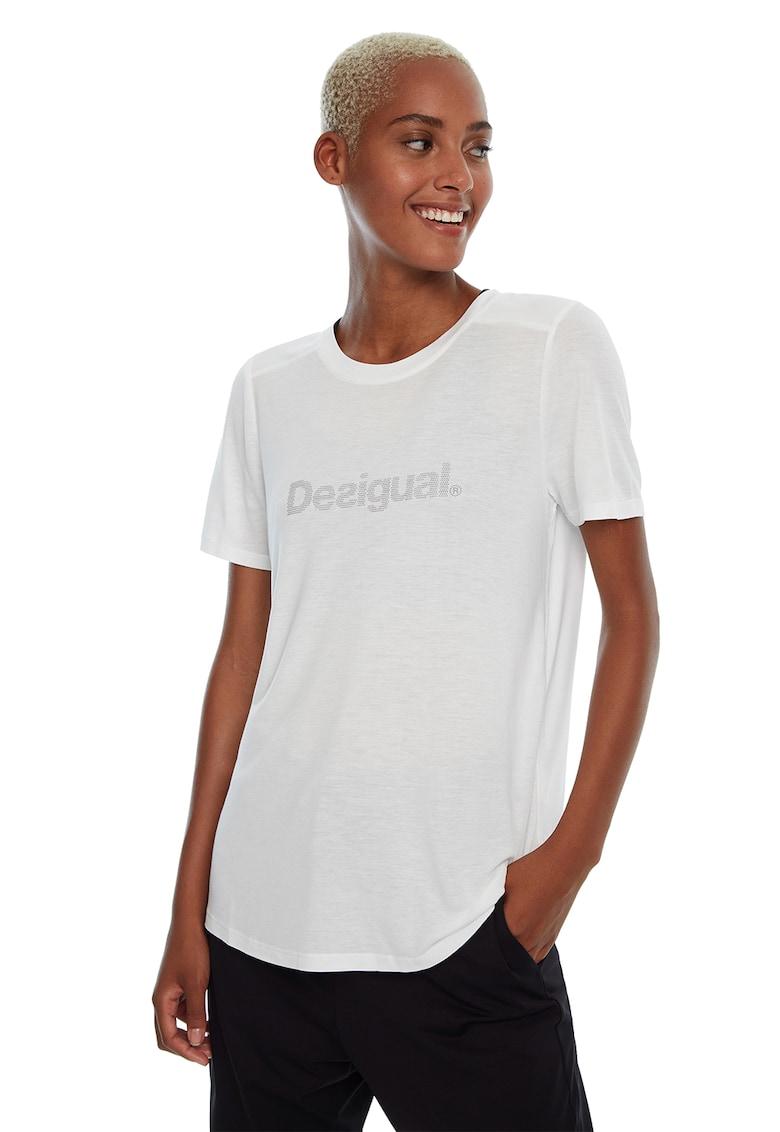 Tricou din amestec de modal - cu logo frontal