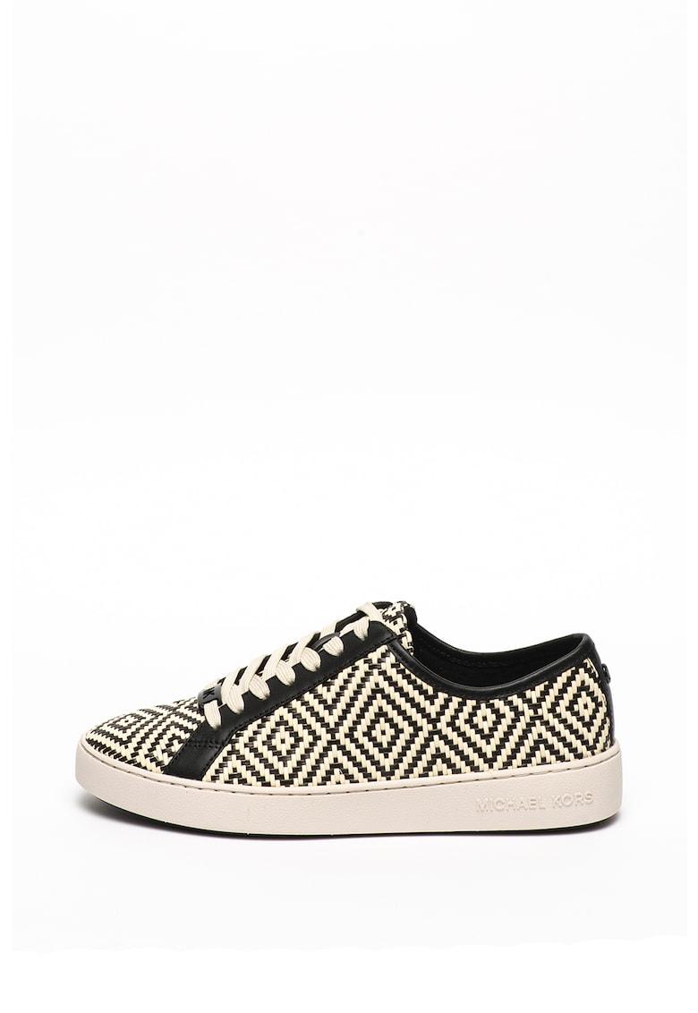 Pantofi sport cu model geometric si aspect tesut Olivia