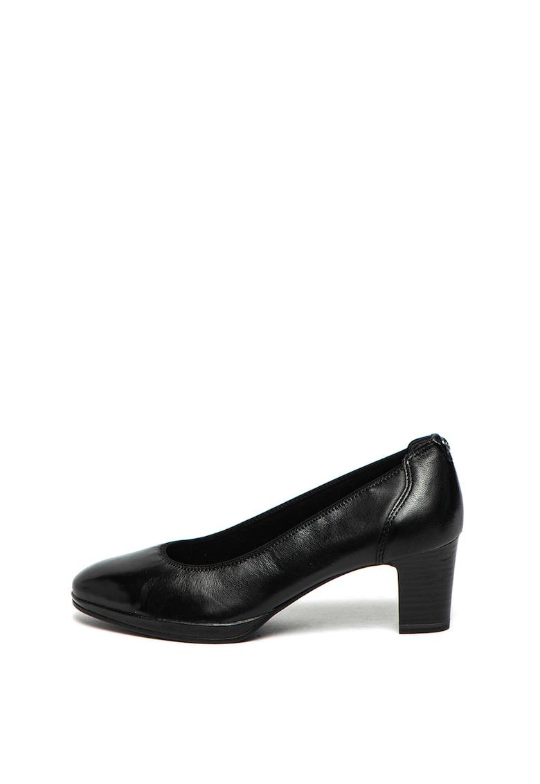 Pantofi de piele cu varf migdalat de la Tamaris