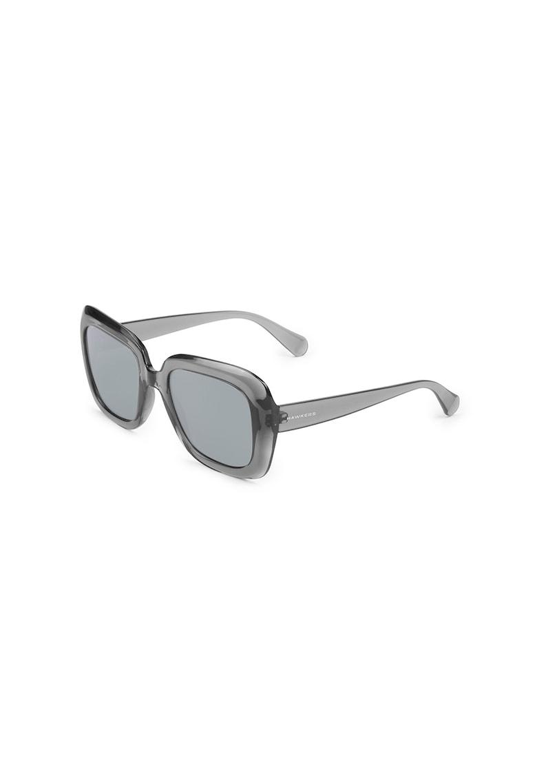 Ochelari de soare dreptunghiulari supradimensionati imagine fashiondays.ro Hawkers