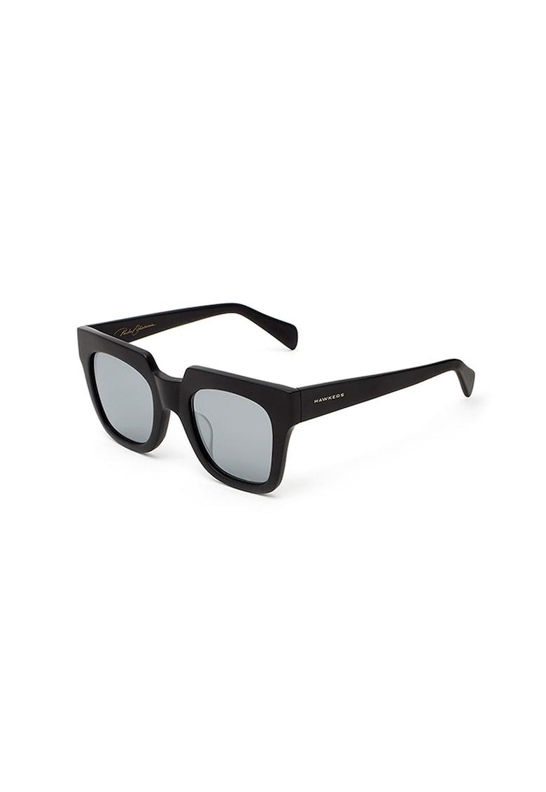 Ochelari de soare patrati cu lentile oglinda Mondaine