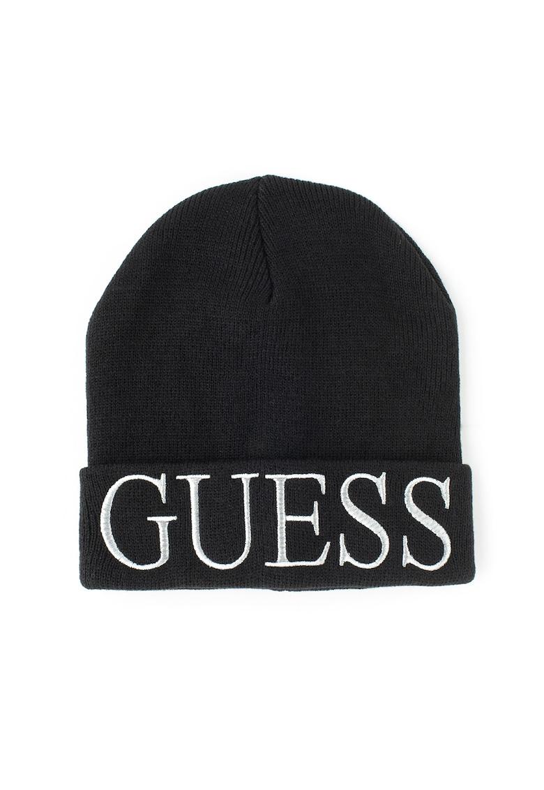 Caciula din tricot cu logo brodat de la Guess