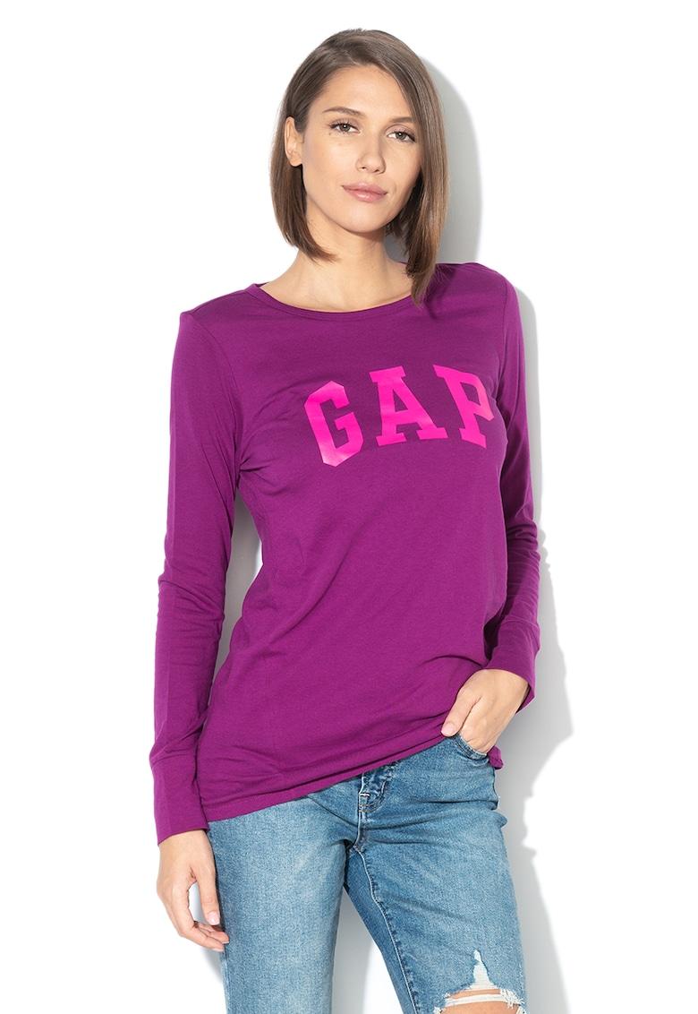 Bluza din bumbac cu imprimeu logo GAP