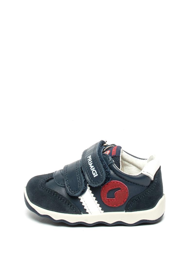 Pantofi sport de piele si piele intoarsa de la Primigi