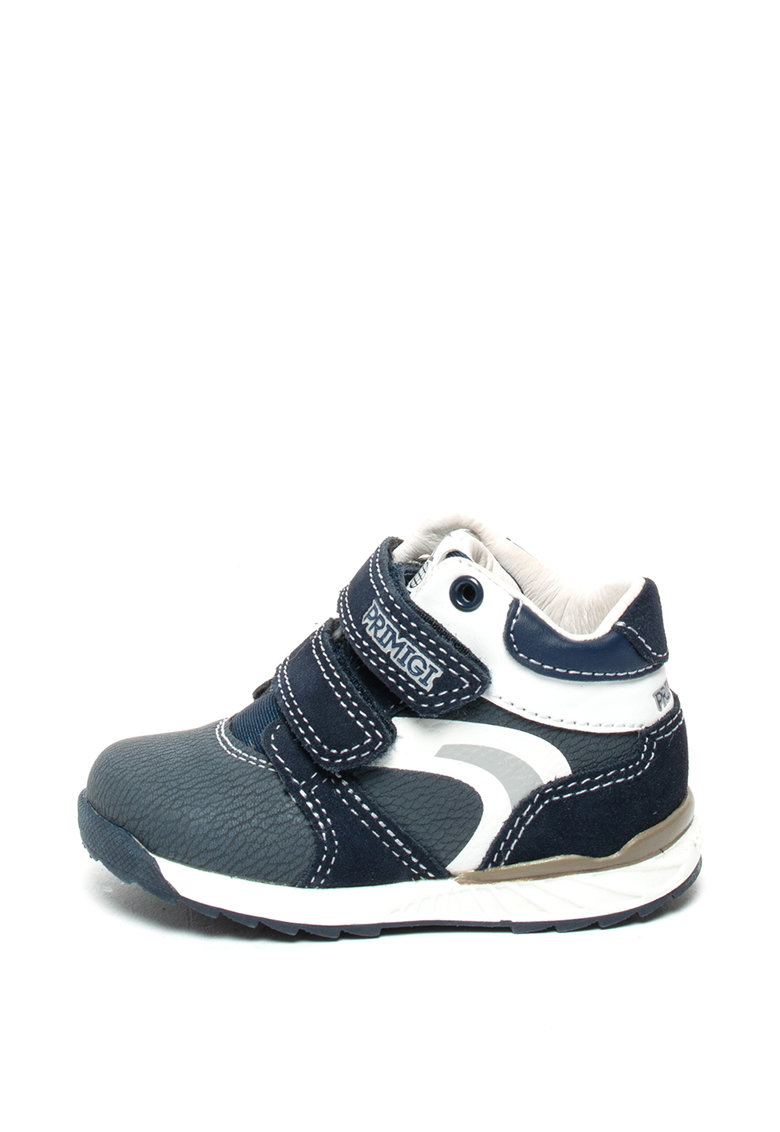 Pantofi de piele intoarsa si piele ecologica - cu velcro