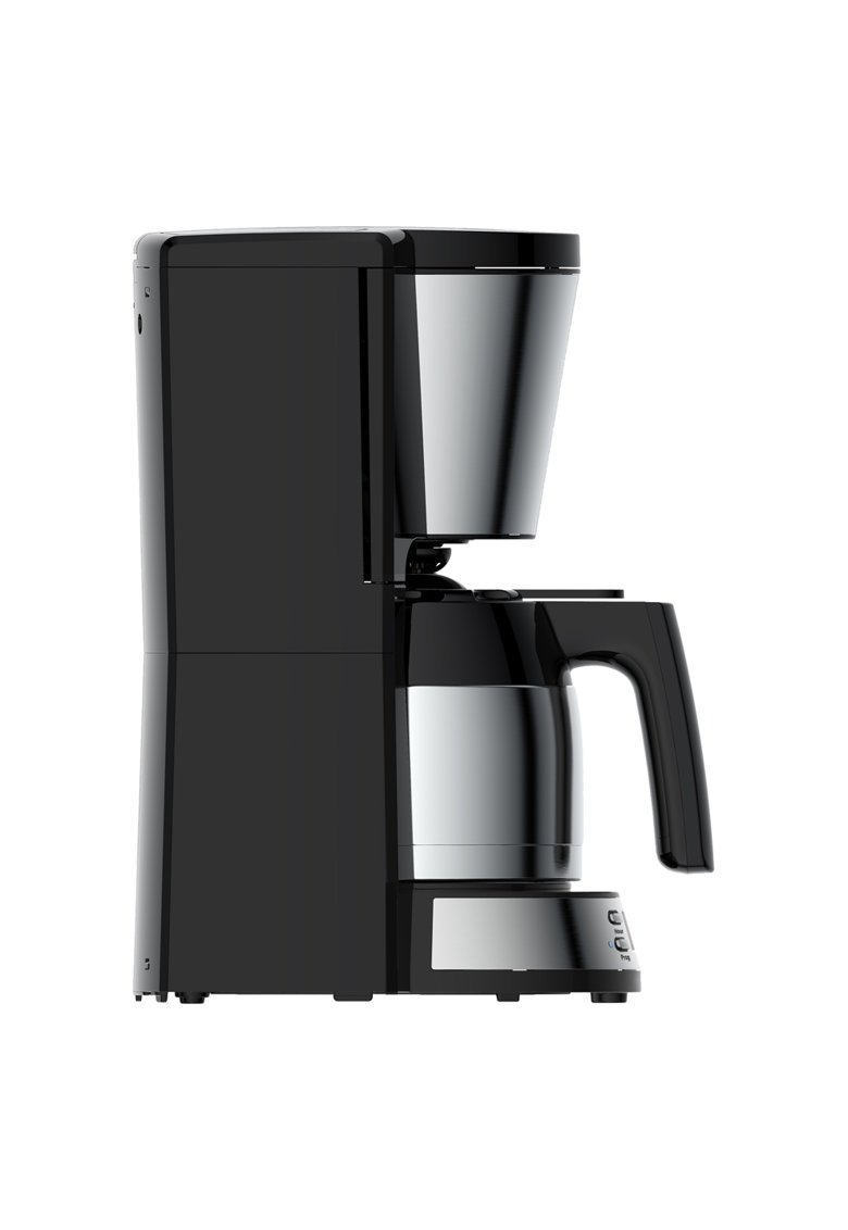 Cafetiera - 1000 W - 1 l - Display LCD - Timer - Cana termos - Anti-picurare - Inox