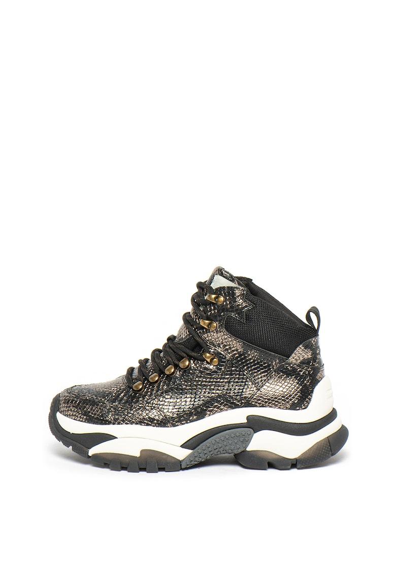 Pantofi sport cu model piele de reptila Alfa
