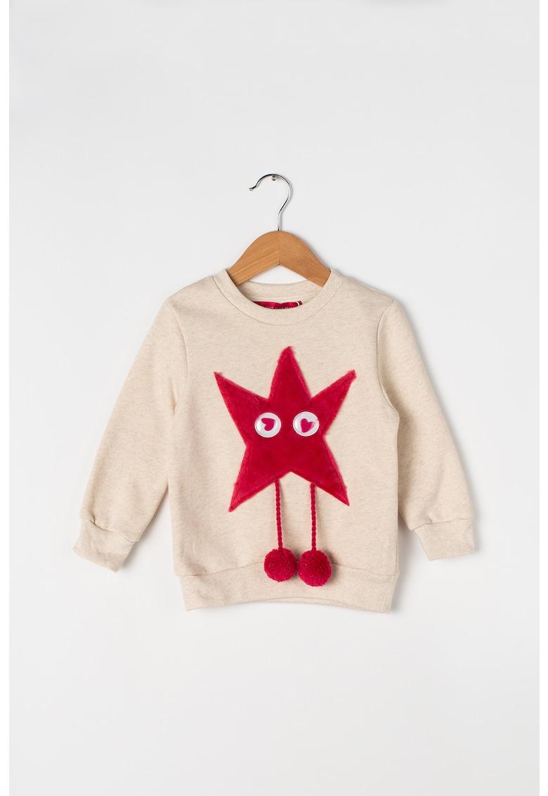 Bluza sport cu aplicatii pufoase Furry Friends