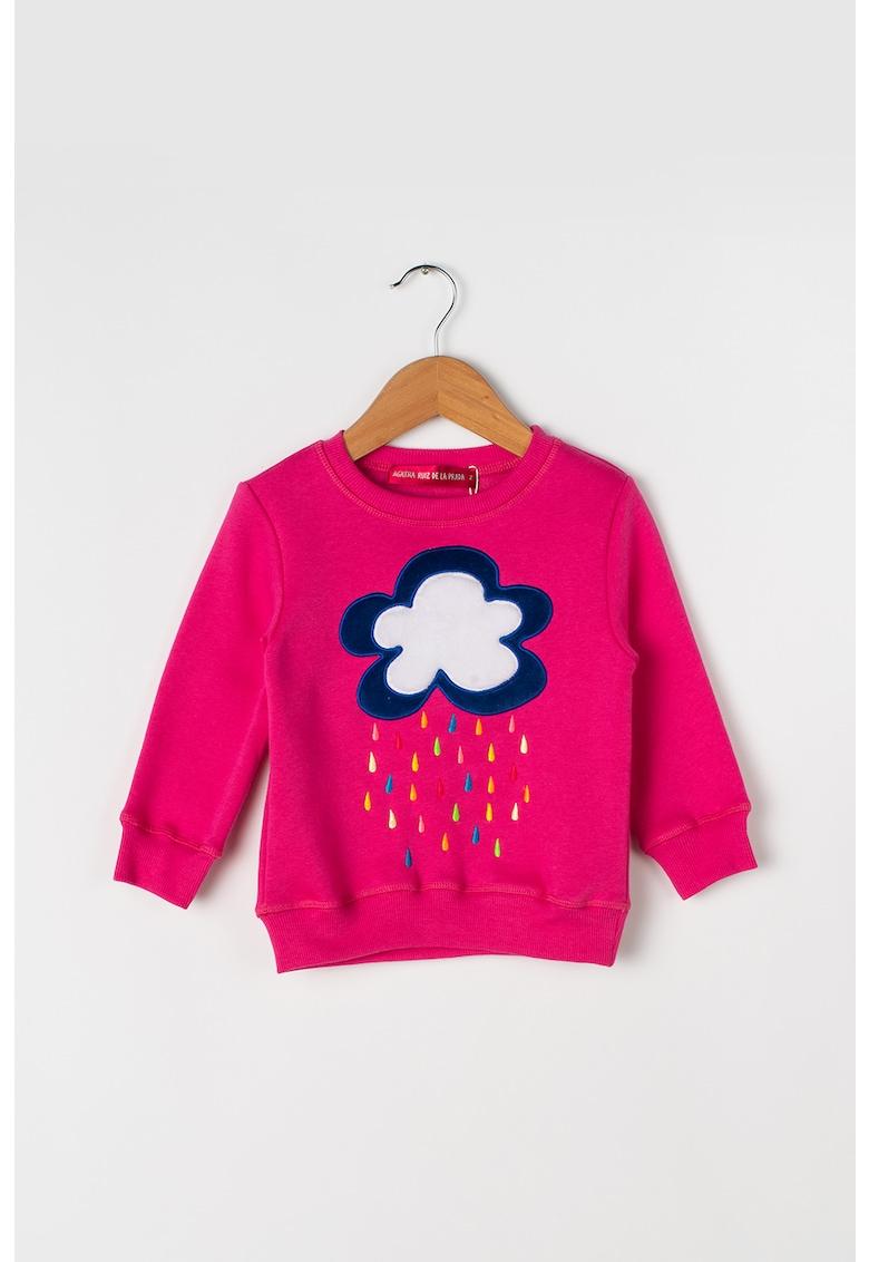 Bluza cu aplicatie de blana sintetica Dreamland de la Agatha Ruiz de la Prada