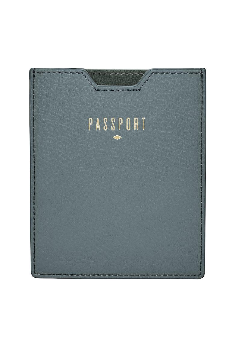 Suport de piele pentru pasaport - cu RFID