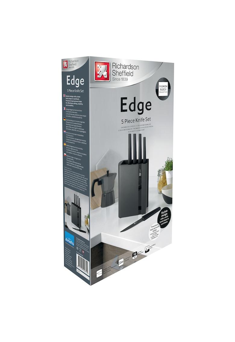 Set cutite cu suport Amefa Edge Black - 5 piese