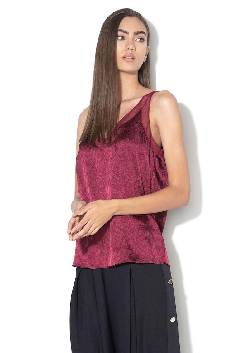 Bluza fara maneci - cu insertii de plasa Lilyane imagine