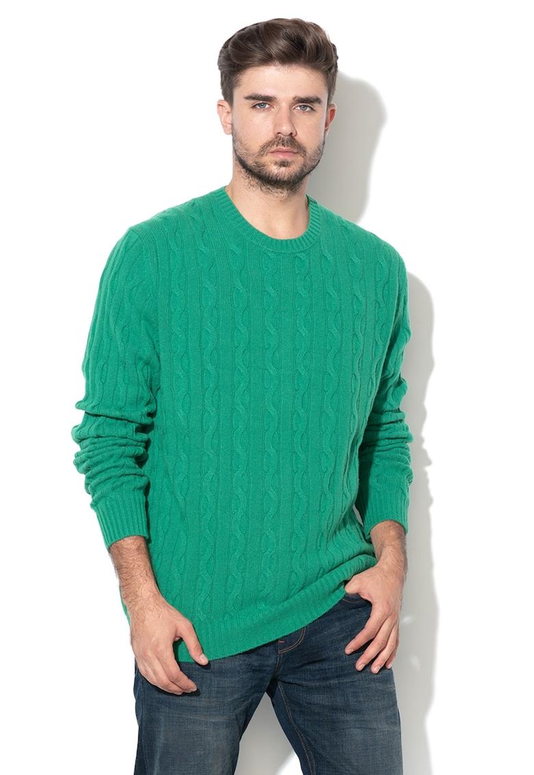 United Colors of Benetton Pulover din amestec de lana - cu model torsade
