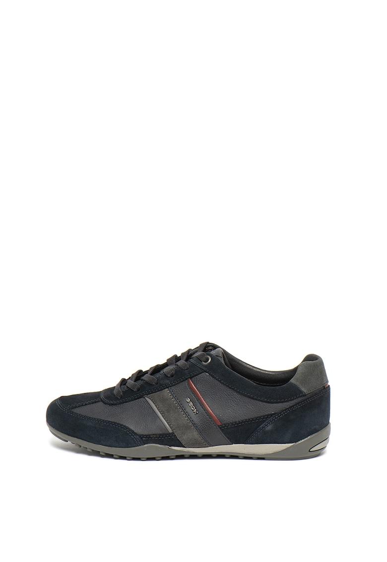 Pantofi sport cu garnituri de piele intoarsa Wells imagine promotie