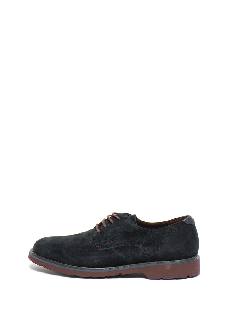 Pantofi derby de piele intoarsa Garret de la Geox