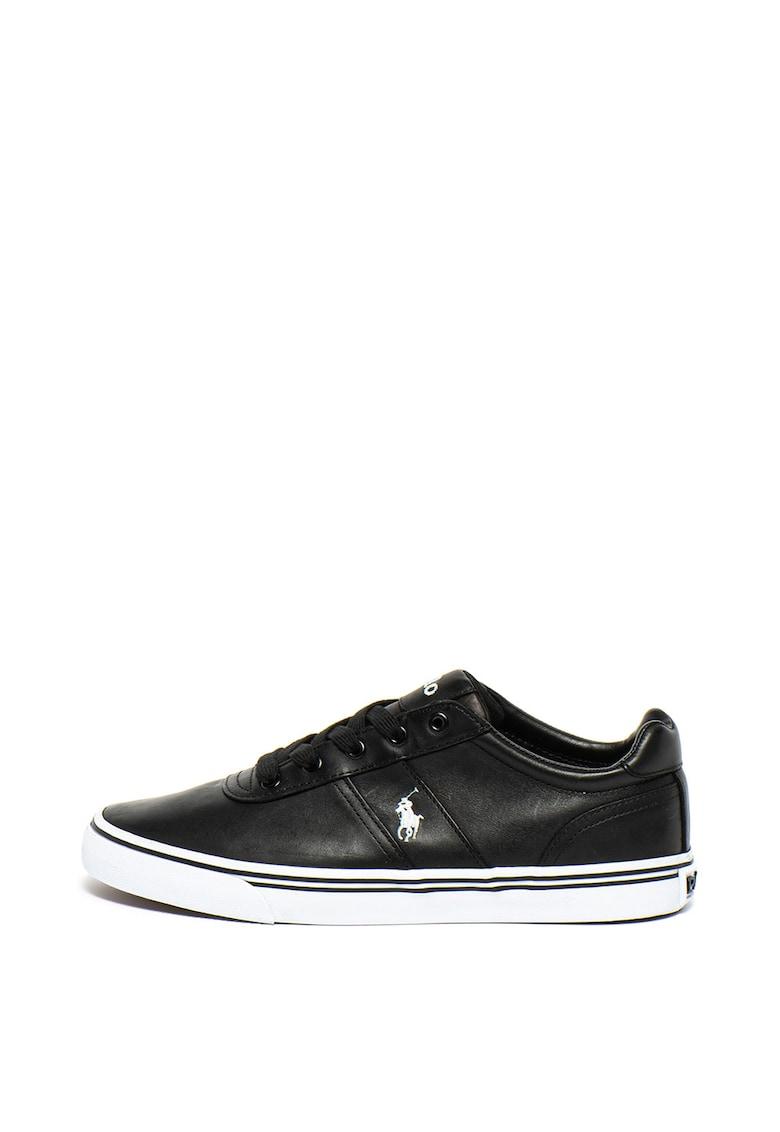 Pantofi sport de piele - cu logo brodat Hanford