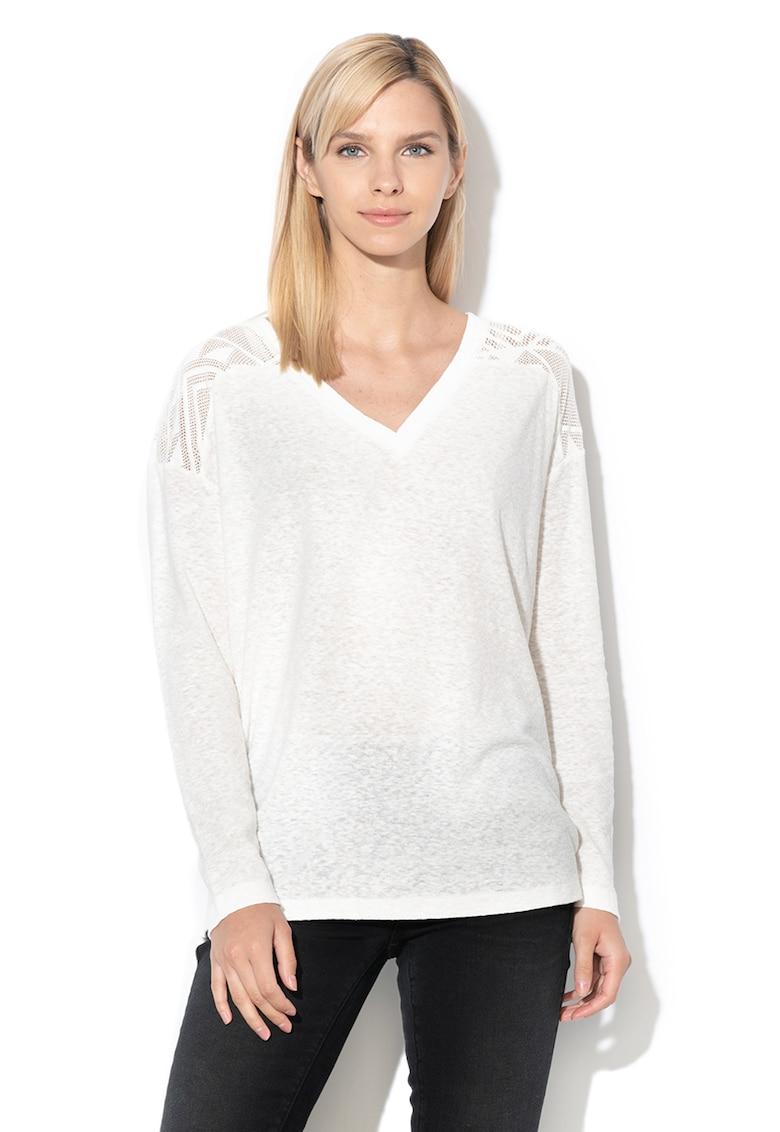 Bluza cu decolteu in V si insertii de dantela You Gotta Be imagine fashiondays.ro 2021