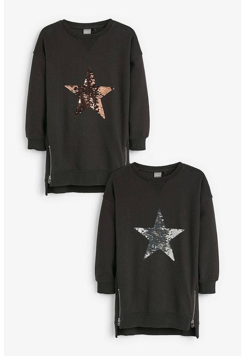 Rochie tip bluza sport cu paiete reversibile de la NEXT