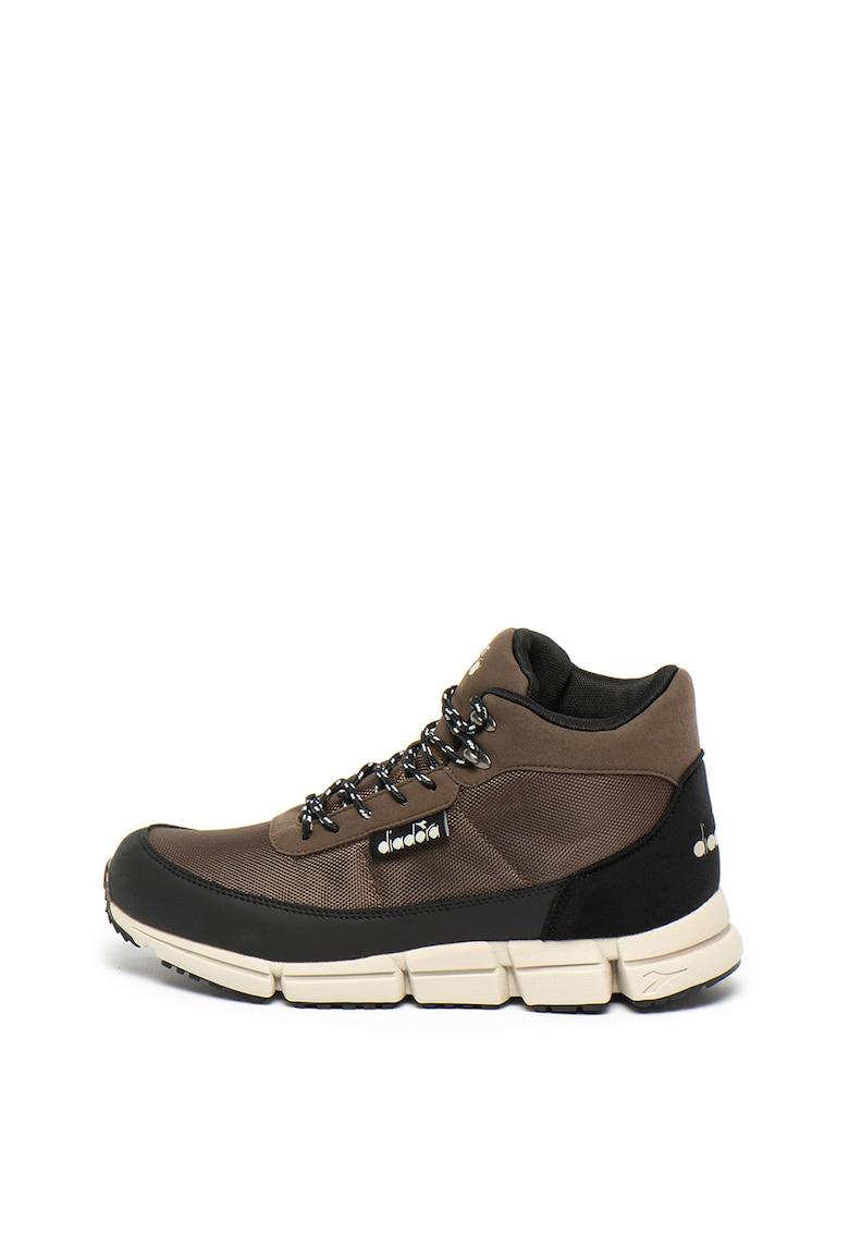 Pantofi sport mid-high cu insertii de material textil Cliff