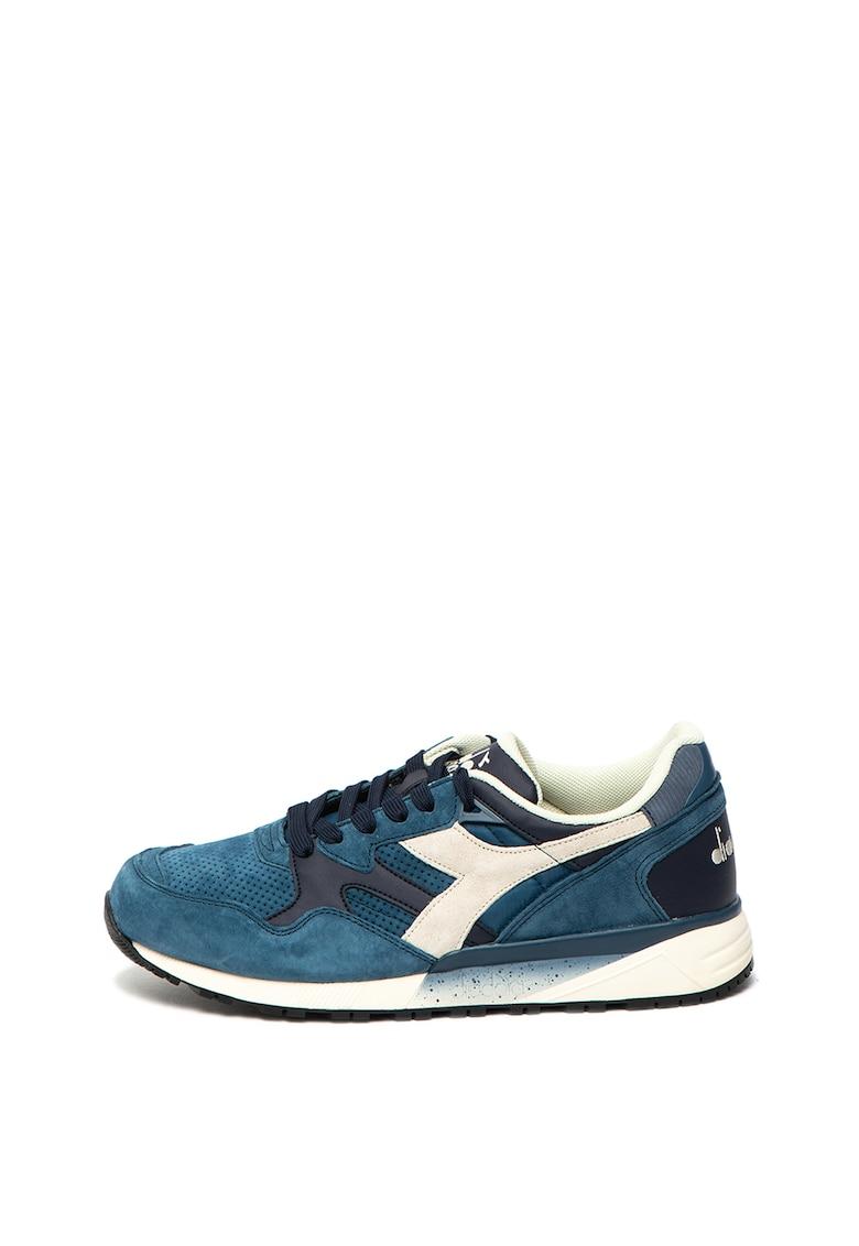 Pantofi sport de piele intoarsa - cu detalii perforate Premium