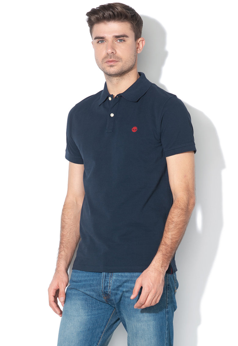 Tricou polo slim fit din pique Timberland