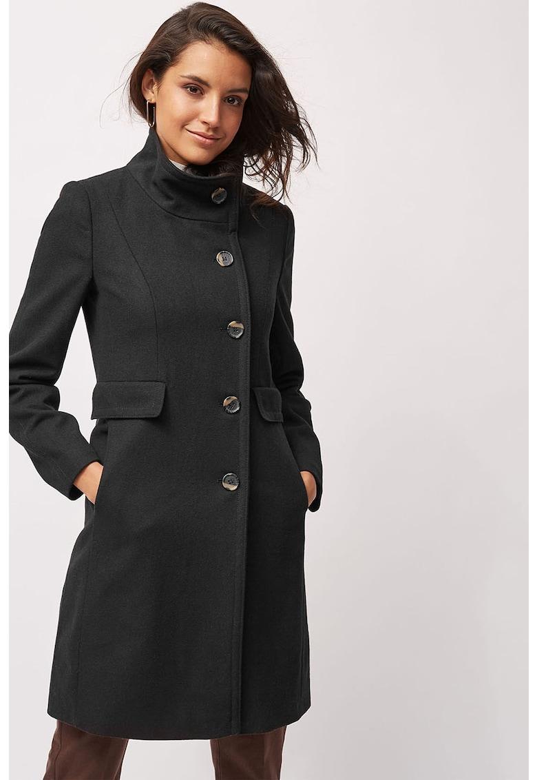 Palton din amestec de lana - cu buzunare cu clapa de la NEXT