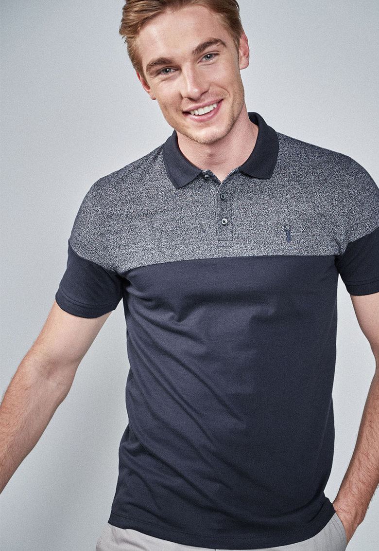 NEXT Tricou polo regular fit cu model colorblock