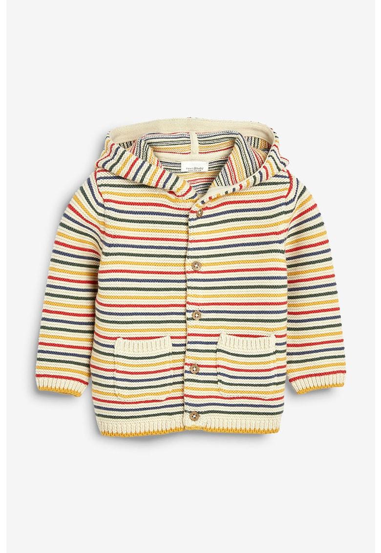 Cardigan tricotat cu model in dungi – cu gluga de la NEXT