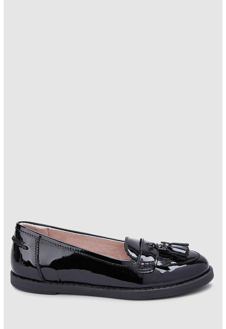 NEXT Pantofi loafer de piele lacuita cu canafi