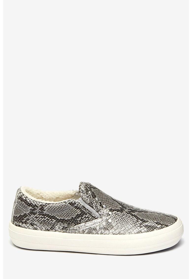 NEXT Pantofi slip-on cu model piele de reptila