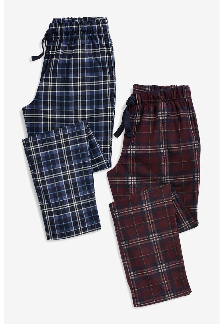 NEXT Set de pantaloni de pijama in carouri - 2 piese