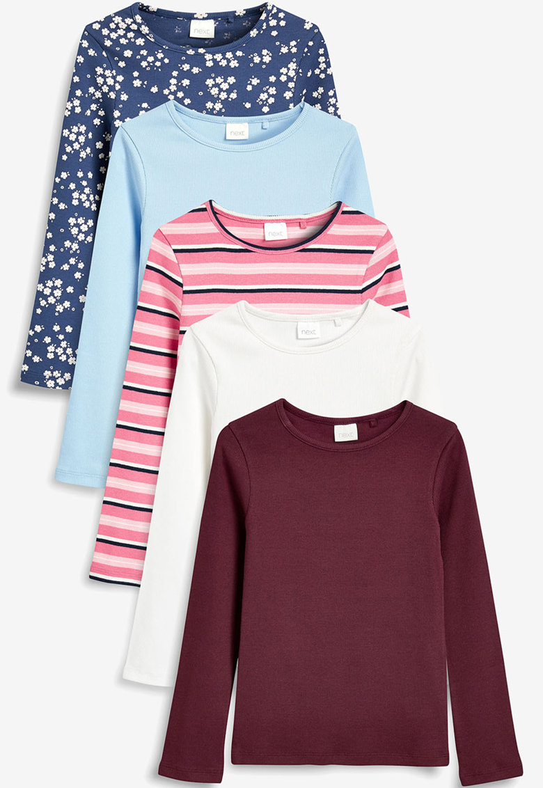 Set de bluze cu decolteu rotund - 5 piese de la NEXT