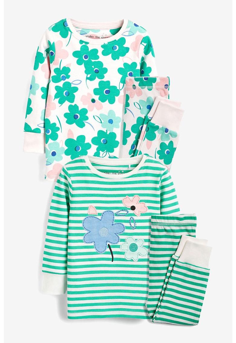 Set de pijama cu floare - 2 piese imagine fashiondays.ro 2021