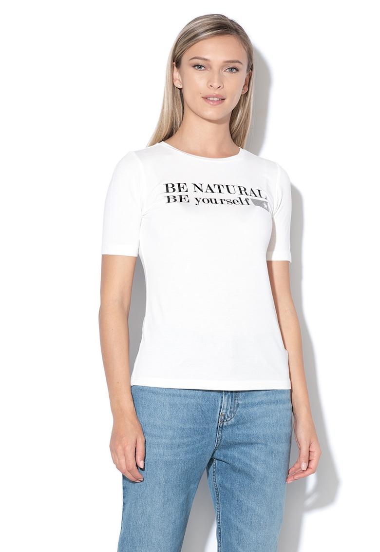 Tricou cu imprimeu text Alaia
