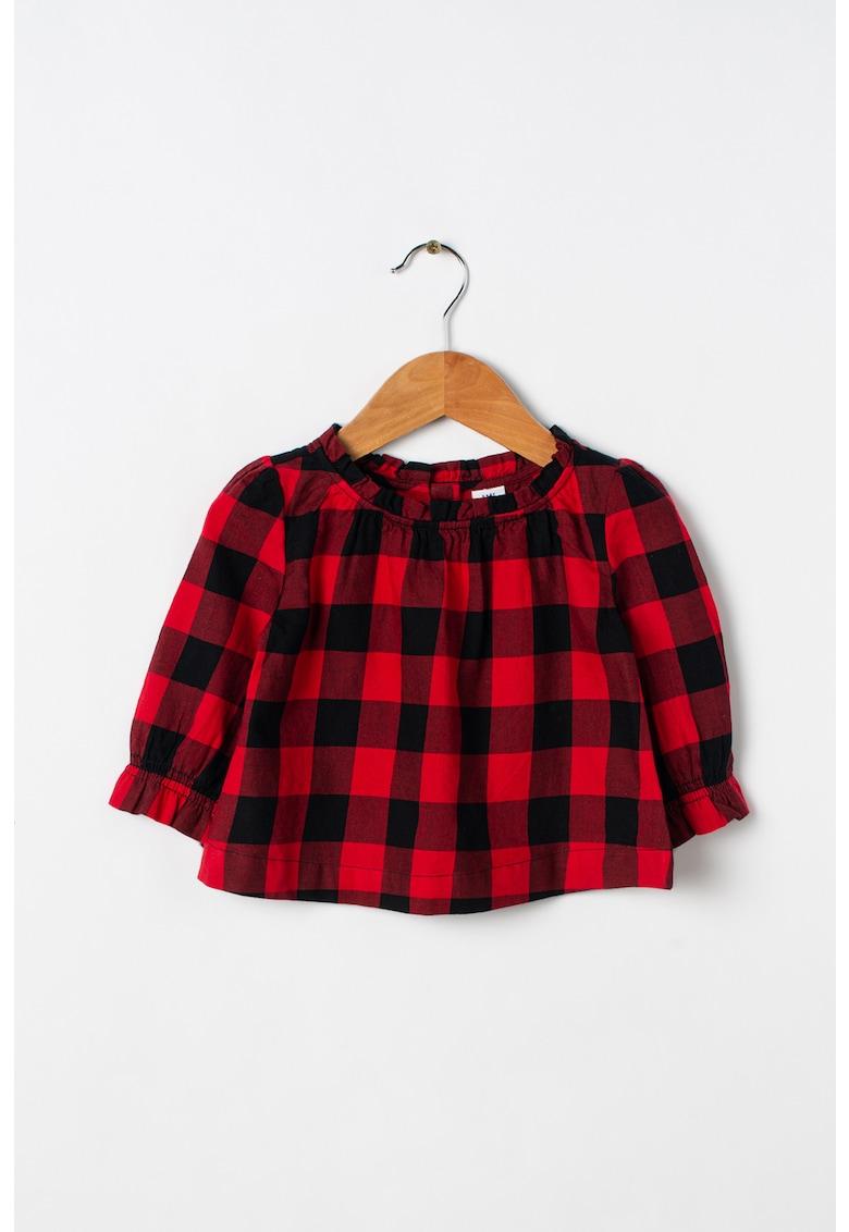 Bluza din bumbac cu mansete elastice GAP fashiondays.ro